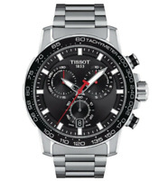 Authentic Tissot Supersport Chrono Stainless Steel Men's Watch T1256171105100