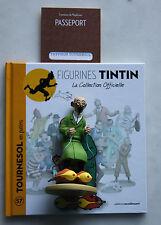 Figurine Tintin n° 57 Tournesol en patins + livret + passeport