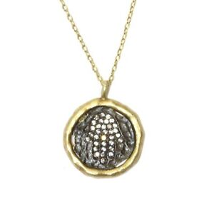 925 Sterling Silver gold plated Hamsha hand cubic zirconia cz pendant necklace