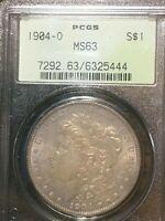 1904 O Morgan Silver Dollar PCGS MS 63 OLD GREEN HOLDER