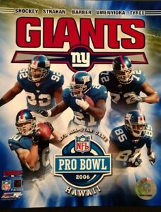 NEW YORK GIANTS 2006 PRO BOWL PLAYERS 8X10 PHOTO New York Giants