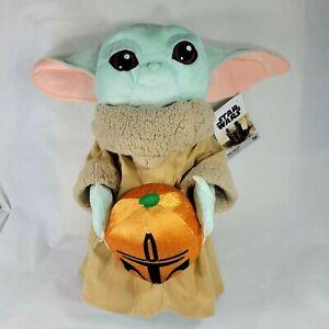 "Gemmy Disney 22"" The Child Baby Yoda Halloween Greeter Mandalorian Pumpkin New"