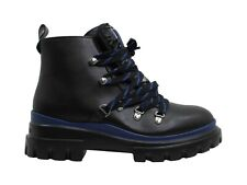 Calvin Klein NEW Black/Blue Lark Cold-Weather Lace-Up Booties Shoes 7