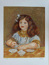 Pierre Auguste Renoir Lithograph Hand Numbered Limited Edition Madchen
