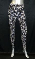 ALWAYS NWT Blue/Beige Cheetah Print Cropped Pull On Leggings  One Size OS