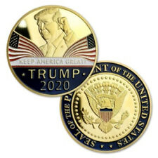 Gold US President Donald Trump 2020 KEEP AMERICA GREAT Challenge Eagle Coins