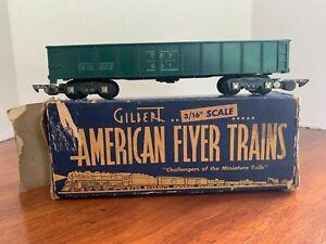 Gilbert American Flyer 3/16 Scale # 631 Gondola Car T & P Texas & Pacific w/Box