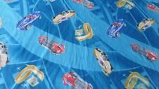 Hot Wheels car racing sports Fabric buy by the Yard 100 inch bed sheet fabric