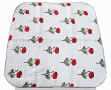 Indian Traditional Cotton Blanket Kantha Baby Quilt Reversible Toddler Bedspread