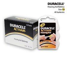 Original Duracell Activair Hearing Aid Batteries Size: 10 (40 Pcs)