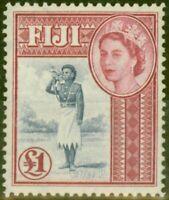 Fiji 1954 £1 Ultramarine & Carmine SG295 V.F MNH