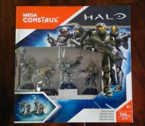 Halo Mega Bloks / Construx Blue Team NIB Master Chief Kelly Linda Fred