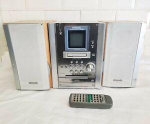 Pansonic SA-PM25 - Bookshelf Micro Hi-fi System CD Tape Radio Aux With remote