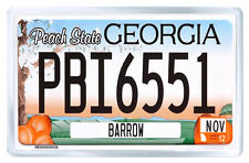 GEORGIA USA LICENSE PLATE FRIDGE MAGNET SOUVENIR IMAN NEVERA