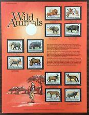 """BURUNDI, #589-600, 1983 set of 12 """"WILD ANIMALS"""". MNH. CV $188. (BJS)."""