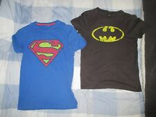 Superman & Batman T shirts Mens XS from Topman, DC Superheros USED and Washed