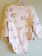 2-Pack Old Navy Infants 6-12 Month Boys Girls Long Sleeve Bodysuits Sheep #32118