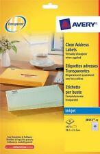Avery J8551-25 Clear Mini Inkjet Label 65 labels per sheet [25 sheets/pack]