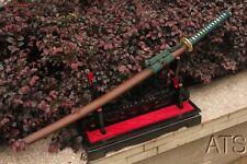 Hand Forged Clay Tempered Moegi Mokuzai Japanese Sword Katana + Customization