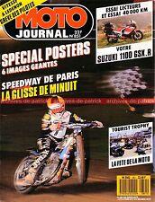MOTO JOURNAL  851 Essai Road Test SUZUKI GSX-R 1100 sur 40000 km 12 pages TT 88