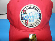 MLB 2004 World Series Red Sox vs Cardinals W S Logo Hat (NWOT)
