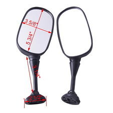 Black Side Rear View Mirrors For Honda HYOSUNG GT125R GT250R GT650R GT650S New