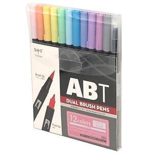 Tombow : Dual Brush Pen Pastel colour 12 pen set (Box)