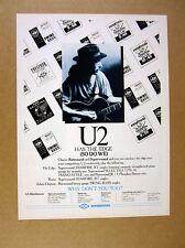 1988 U2 The Edge photo Rotosound Superwound Guitar Strings vintage print Ad