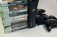 Xbox 360 Slim 4GB Console w/ 2 Controllers & 20 Games Call Of Duty Madden Sonic