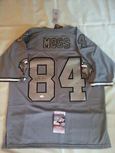 Randy Moss Signed Minnesota Vikings Mitchell & Ness Charcoal 98 retired Auto JSA