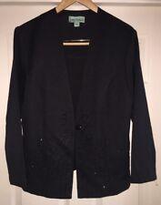 Womens Sara Morgan Haband Formal Black Embellished Evening Jacket Size 16 P