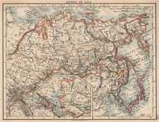 RUSSIA IN ASIA. Shows Trans-Siberian railway under construction 1906 old map