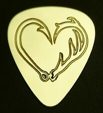 ANTLER HOOK HEART - Solid Brass Guitar Pick,Acoustic,Electric,Bass