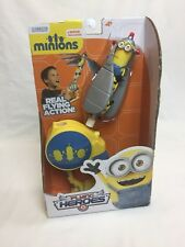 Despicable Me MINIONS Real Flying Heroes Action Figure Flyer and Launcher Toy