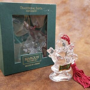 Marquis by Waterford Christmas Endearments Crystal Traditional Santa Ornament