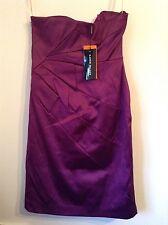 BNWT 100% Auth Karen Millen, Ladies Purple Stunning Dress. 12 RRP £150.00