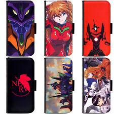 PIN-1 Anime Neon Genesis Evangelion Phone Wallet Flip Case Cover for LG Motorola