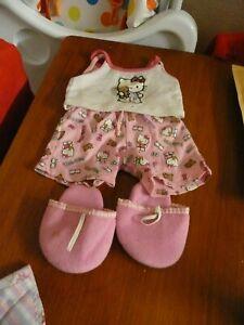 build a bear, hello kitty pajamas and slippers.