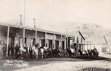 "RPPC SILVER CITY ID Pack Mules ""General Merchandise"" Idaho Postcard ca 1950s"