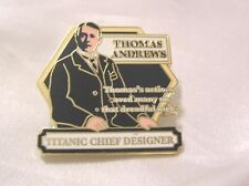 TITANIC 22ct GOLD-PLATED ENAMEL BADGE by the DANBURY MINT WHITE STAR LINE #4