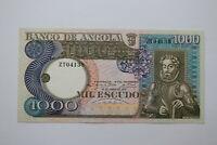 BANKNOTE ANGOLA 1000 ESCUDOS 1973 UNC B20 BK732