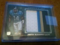 2012 TOPPS INCEPTION JUSTIN BLACKMON ROOKIE JUMBO 4 COLOR JERSEY #12/25