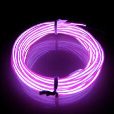LED Lila 3M EL Wire Lightup Kostüm Neon Party Zimmer Cafe Restaurant Bed Bar DE