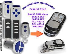 433MHZ Emisor manual compatible con ACERO NORMAL PUERTA GARAJE ea433 2ks 2km