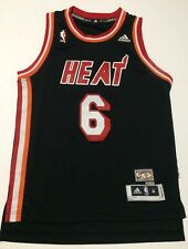 Adidas Swingman NBA Miami Heat LeBron James 6 Hardwood Throwback Jersey Youth M