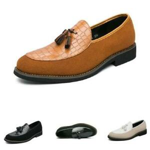 British Men Low Top Faux Leather Business Leisure Shoes Work Office Tassels 47 L