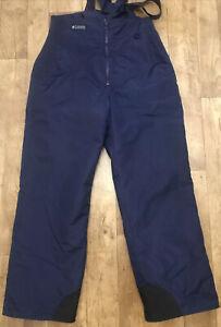 Columbia Dark Blue Womens Ski Trousers Salopettes Large W32 L30 A57