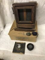 Antique Kodak Large Format Camera ROC Retouching Desk & Lenses Parts Repair Lot