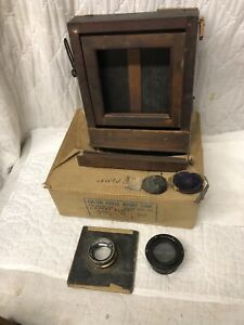 Antique Kodak Large Format Camera ROC Retouching Desk & Lenses Parts Repair Lot