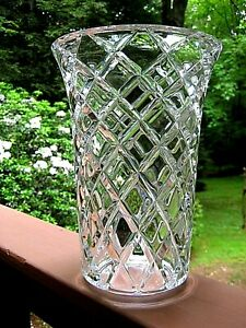 """Tiffany and Co Large 11"""" Vase designed by Josef Riedel"""